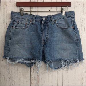 Red Tab 505 Straight Leg Levi's Cut-Off Shorts